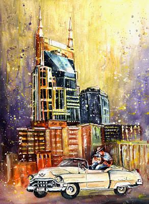 Nashville Painting - Nashville Authentic by Miki De Goodaboom