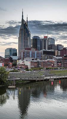 Downtown Nashville Photograph - Nashville Evening by Stephen Stookey