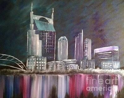 Batman Building Painting - Nashville by Jason Barrett