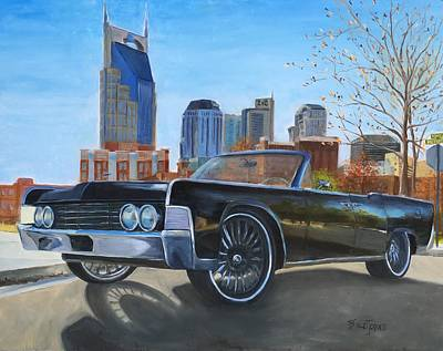 Nashville Skyline Painting - Nashville Lincoln by Barbara Joines