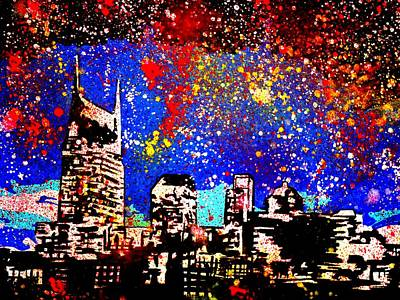 Nashville Painting - Nashville by Nick Mantlo-Coots