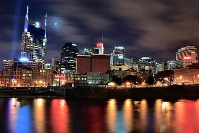 Nashville Skyline Photograph - Nashville Skyline by Frozen in Time Fine Art Photography