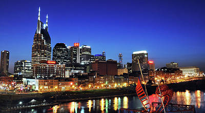 Nashville Skyline Photograph - Nashville Skyline by Giffin Photography