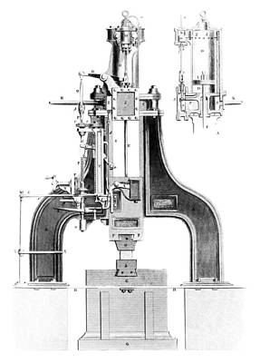 Mechanical Engineering Photograph - Nasmyth's Steam Hammer, Artwork by Library Of Congress