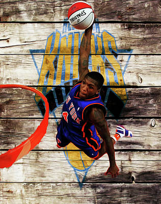 Oklahoma City Thunder Mixed Media - Nate Robinson 2c by Brian Reaves