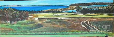 Peconic Painting - National Golf Links Of America #17 Tee by Frank Giordano