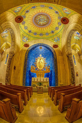 National Shrine Of The Immaculate Conception Chapel Print by Susan Candelario
