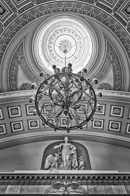 Washington Dc Photograph - National Statuary Hall Washington Dc Bw by Susan Candelario