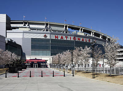 Nationals Park In Washington D.c. Print by Brendan Reals