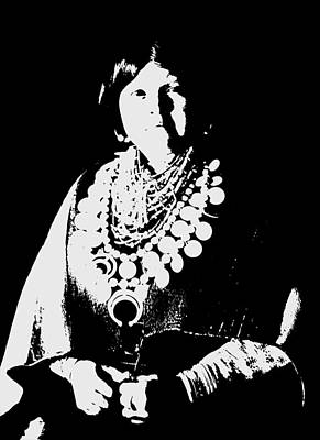 Native American Woman Digital Art - Native American 21 Curtis by David Bridburg