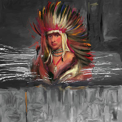 Indian Cultural Painting - Native American 277 3 by Mawra Tahreem