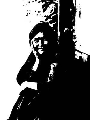 Native American Woman Digital Art - Native American 9 Curtis by David Bridburg