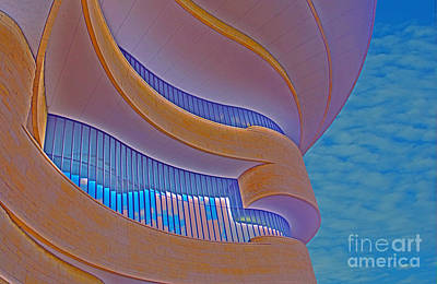 Photograph - Native American Building Abstract by Rich Walter