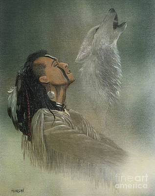 Historical Painting - Native American Indian by Morgan Fitzsimons