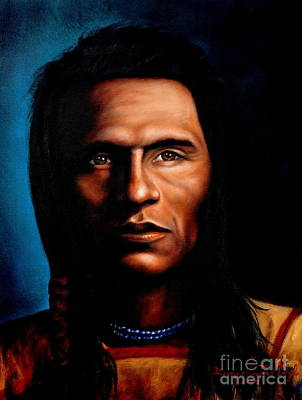 Native American Indian Soaring Eagle Print by Georgia Doyle  brushhandle