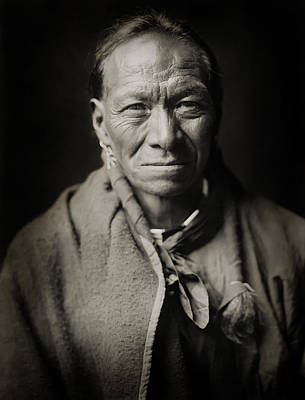North American Photograph - Native American Taos Indian White Clay by The  Vault - Jennifer Rondinelli Reilly