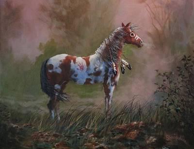 Native American War Pony Print by Tom Shropshire
