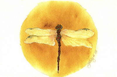 Native Dragonfly Print by Gladys Folkers