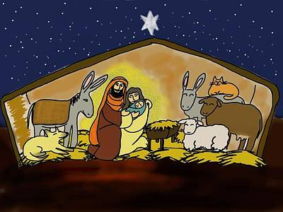 Nativity Digital Art - Nativity  by Connie Kottmann