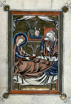 Holy Family Photograph - Nativity: Illumination by Granger