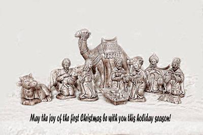Joesph Photograph - Nativity Scene In Sepia by Linda Phelps