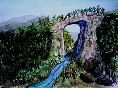 Natural Bridge In Virginia Print by Donna Walsh