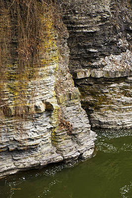 Nature Abstract Rock Cliffs Print by Christina Rollo