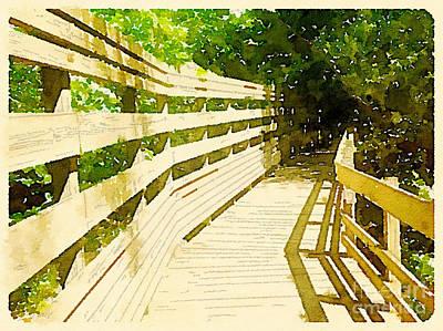 Nature Boardwalk Print by Janet Dodrill