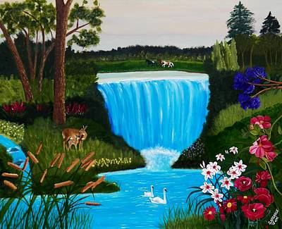 Swans... Painting - Nature Falls by Debbie LaFrance