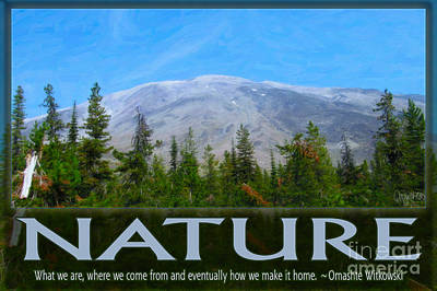 Nature In All Of Us Spiritual Artwork By Omashte Print by Omaste Witkowski