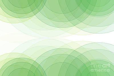 Digital Art - Nature Semi Circle Background Horizontal by Frank Ramspott