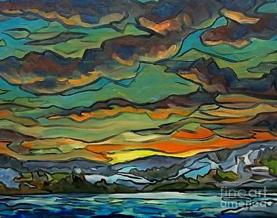 Natures Abstract Glory Print by John Malone