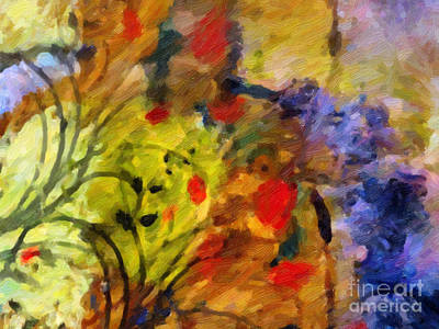 Abstract Flower Painting - Natures Colorplay by Lutz Baar
