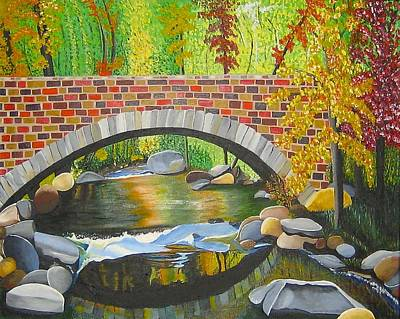 Babbling Brook Painting - Natures Eye by Donna Blossom