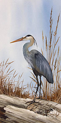 Heron Painting - Nature's Gentle Beauty by James Williamson