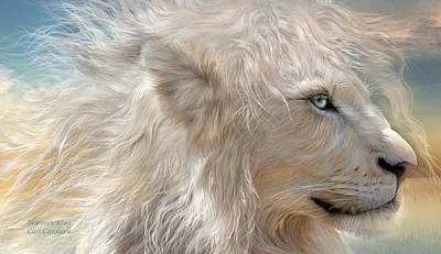 Lion Art Mixed Media - Nature's King by Carol Cavalaris