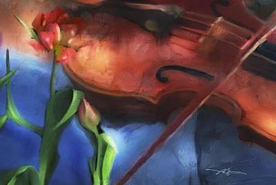 Violin Digital Art - Nature's Symphony by Bob Salo