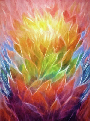 Abstract Movement Painting - Natures Vigor by Lutz Baar