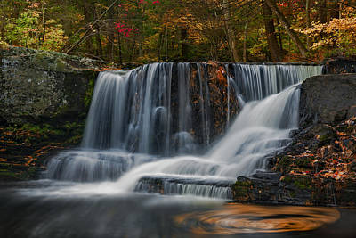 Natures Waterfall And Swirls Print by Susan Candelario