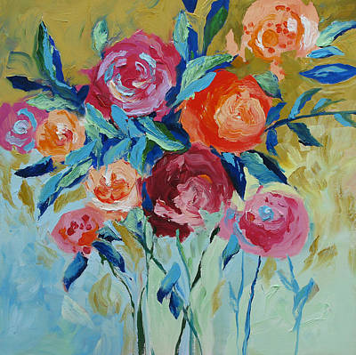 Abstract Flower Painting - Nature's Wonder by Linda Monfort