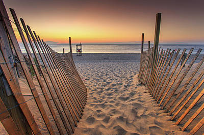Sunset Photograph - Nauset Beach Entrance 2 by Dapixara Photo Art