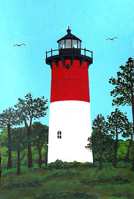 Nauset Lighthouse Tower Painting Print by Frederic Kohli