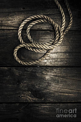 Nautical Rope On Boat Deck. Maritime Knots Print by Jorgo Photography - Wall Art Gallery