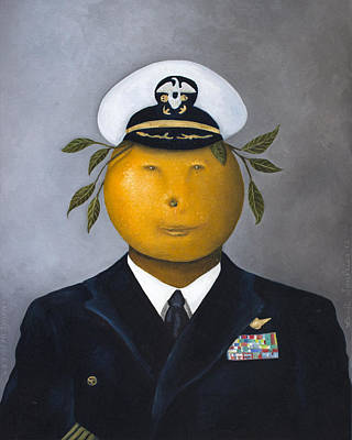 Beer Painting - Naval Officer by Leah Saulnier The Painting Maniac