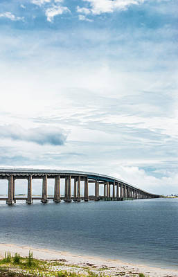 Navarre Beach Photograph - Navarre Bridge In Florida On The Sound Side by Shelby Young