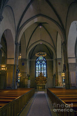 Orebro Photograph - Nave St. Nicholas Church Orebro by Roberta Bragan