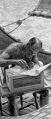 Frank Ocean Drawing Drawing - Navigator by Frank Mulvey