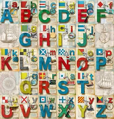 Nato Digital Art - Navy Alphabet by Vanessa Bates