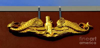 Photograph - Navy Insignia At Pearl Harbor by Mary Deal