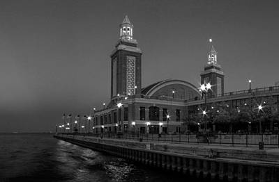 Ferris Wheel Night Photograph - Navy Pier In Chicago by Twenty Two North Photography